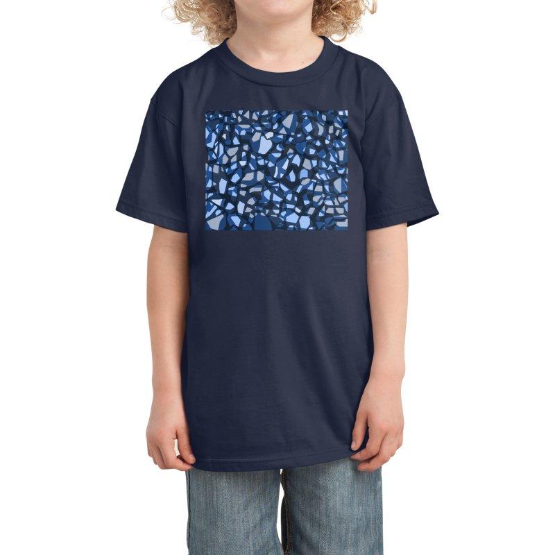 Terrazzo Blues Kids T-Shirt by covereaux's Artist Shop