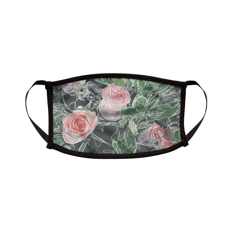 Wild Rose Accessories Face Mask by covereaux's Artist Shop