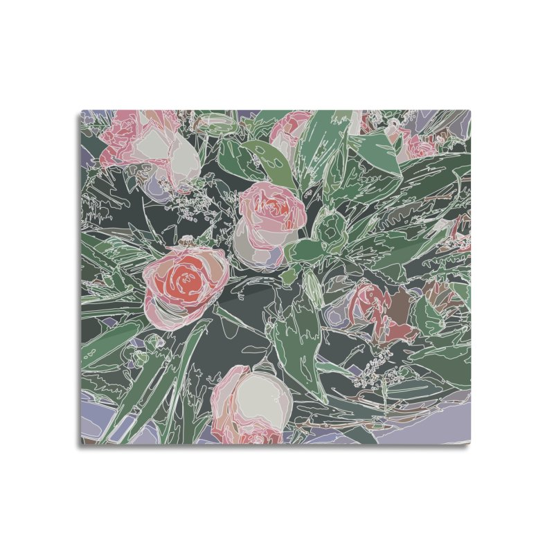 Wild Rose Home Mounted Aluminum Print by covereaux's Artist Shop