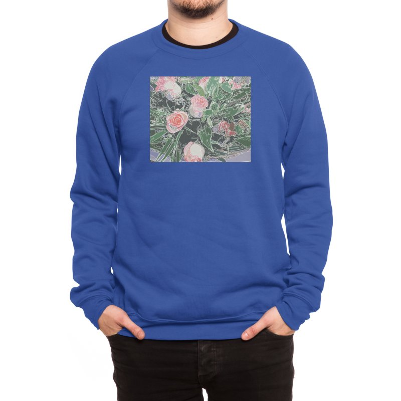 Wild Rose Men's Sweatshirt by covereaux's Artist Shop