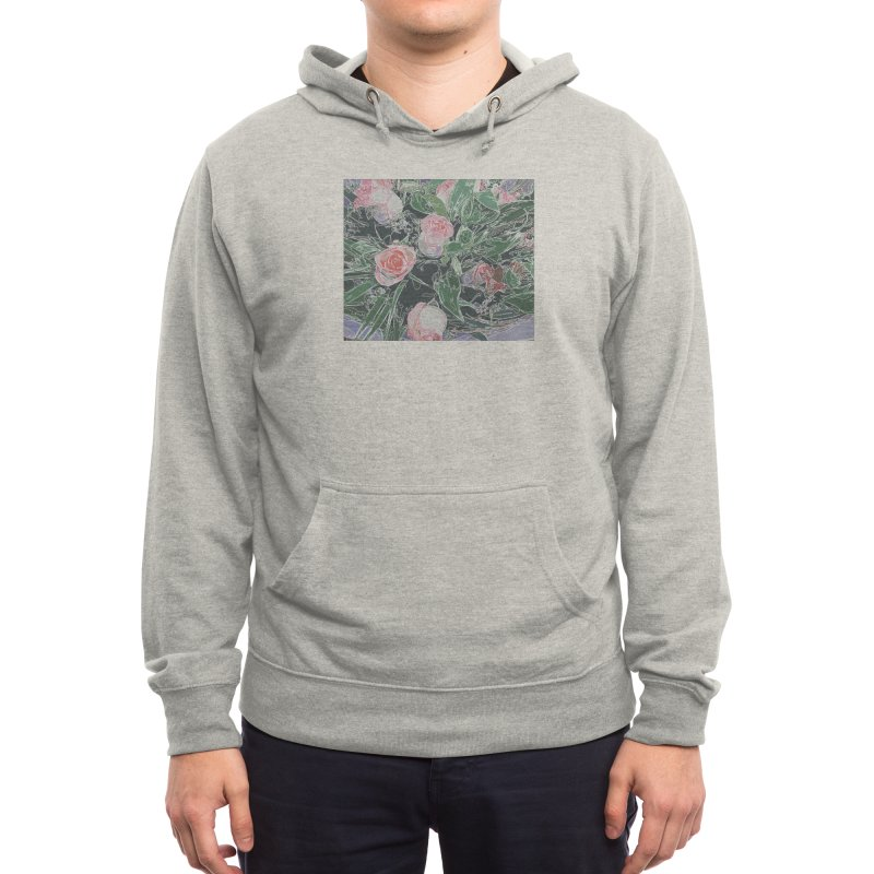 Wild Rose Men's Pullover Hoody by covereaux's Artist Shop