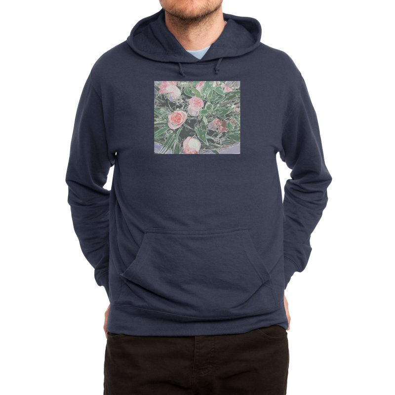 Wild Rose Men's Pullover Hoody by Covereaux's Skate Shop