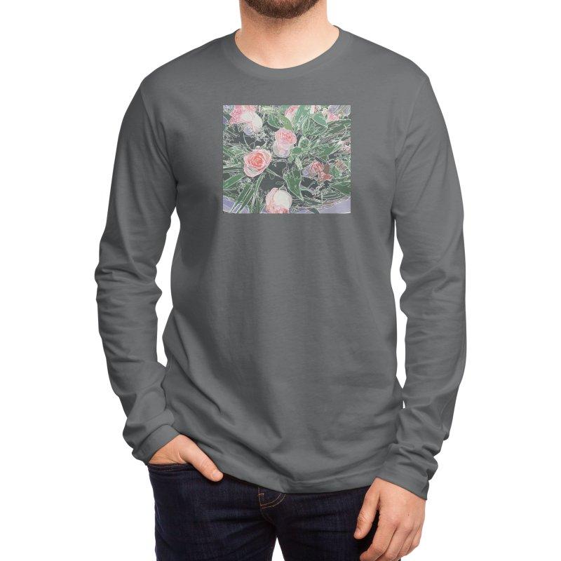 Wild Rose Men's Longsleeve T-Shirt by covereaux's Artist Shop