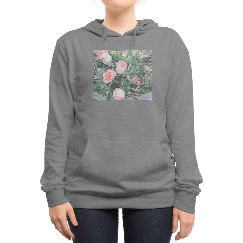 Wild Rose Women's Pullover Hoody by covereaux's Artist Shop