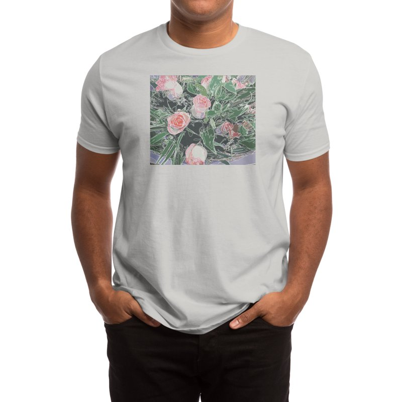 Wild Rose Men's T-Shirt by Covereaux's Skate Shop