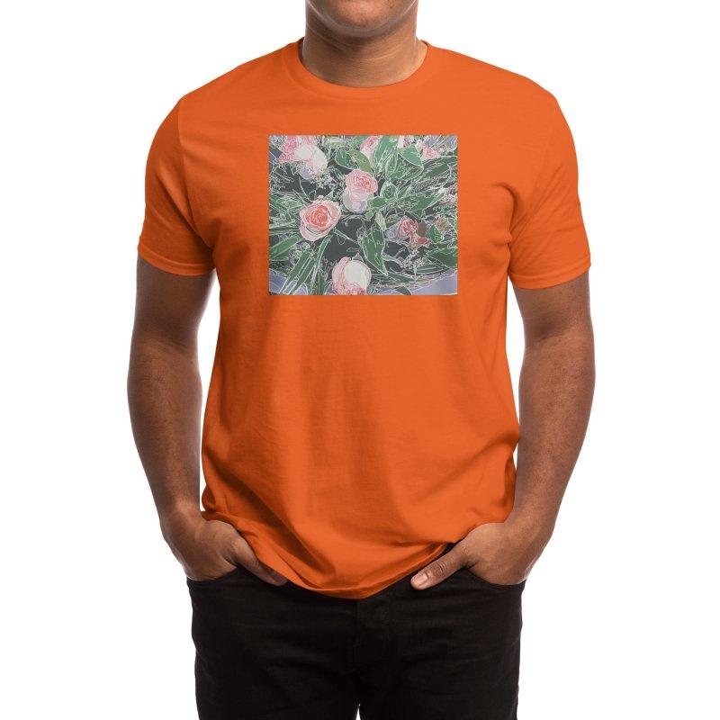 Wild Rose Men's T-Shirt by Covereaux's Skate Shop