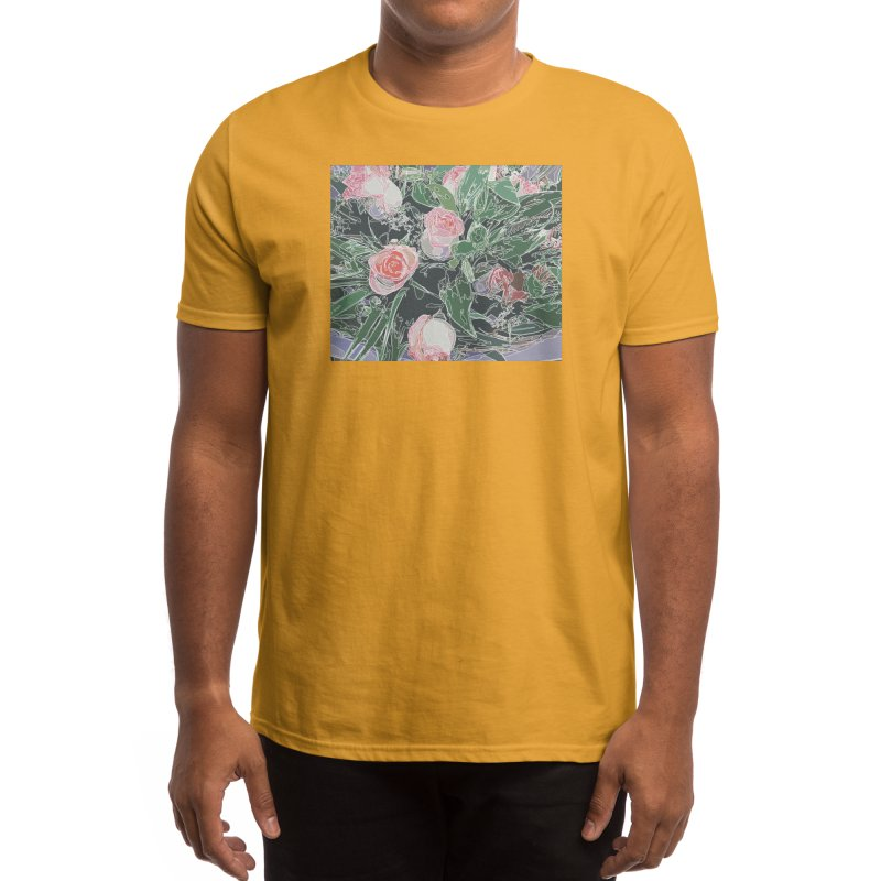Wild Rose Men's T-Shirt by covereaux's Artist Shop