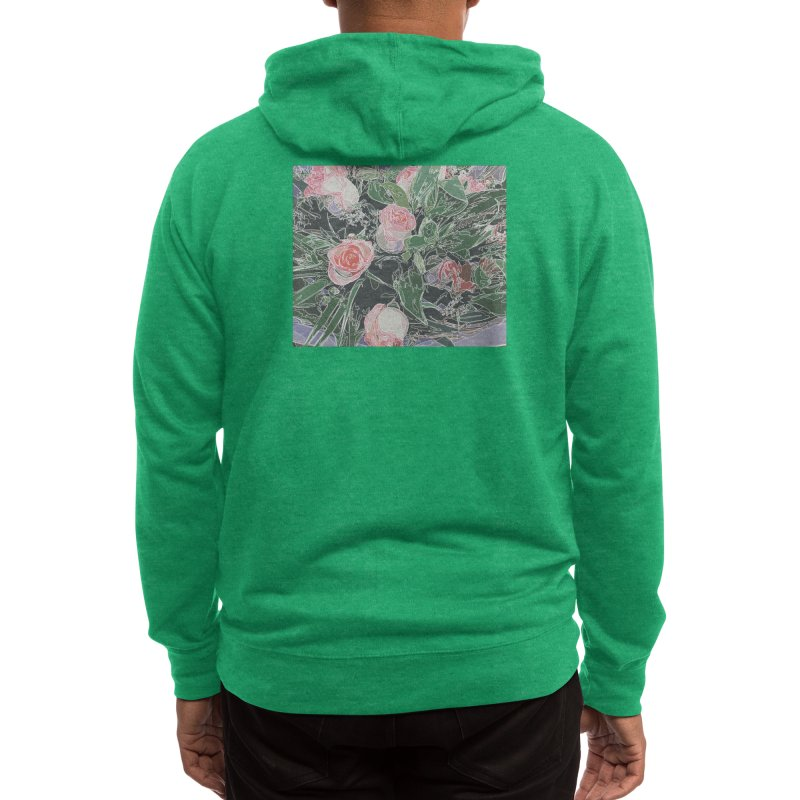 Wild Rose Men's Zip-Up Hoody by covereaux's Artist Shop