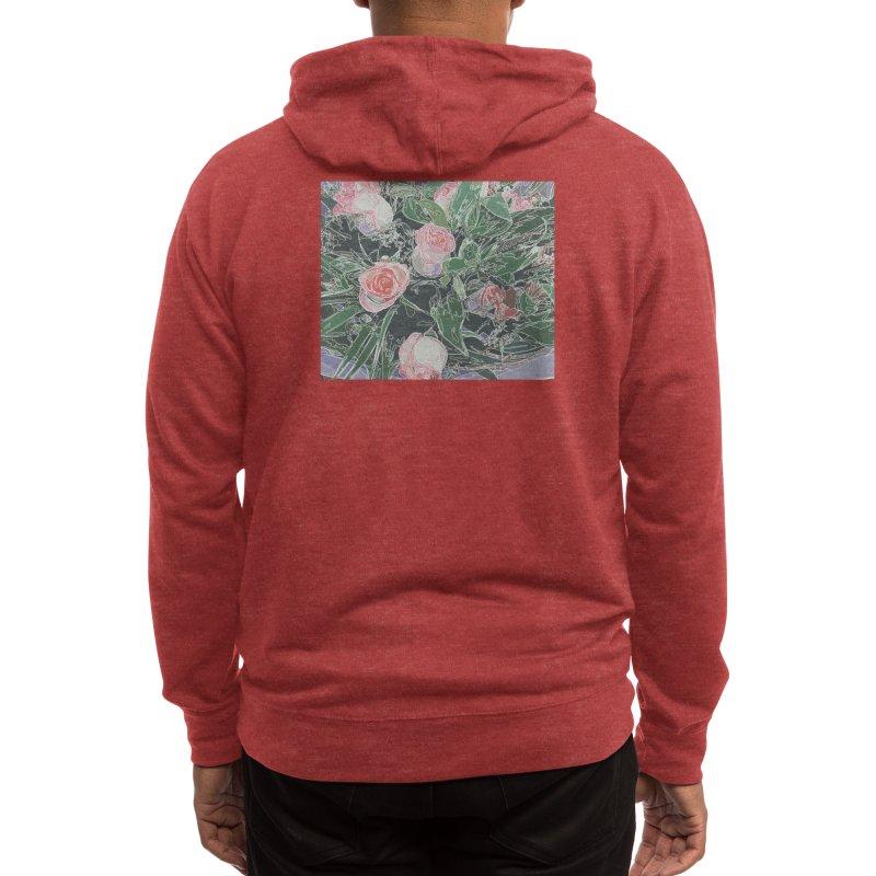 Wild Rose Men's Zip-Up Hoody by covereaux's Artist Shop