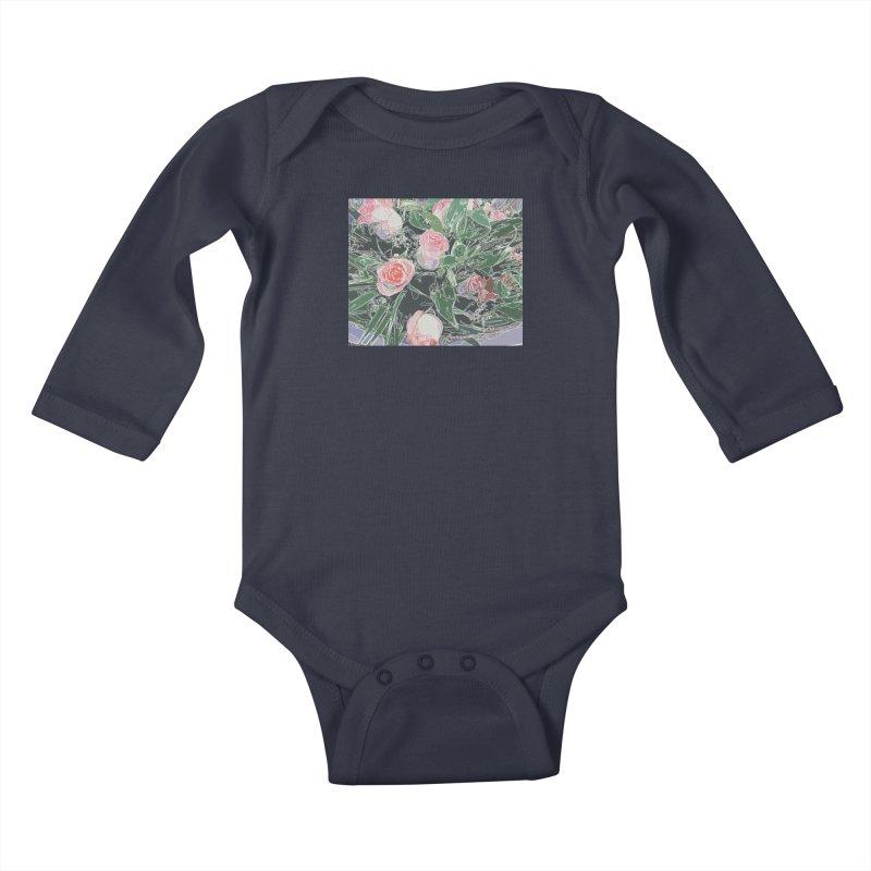 Wild Rose Kids Baby Longsleeve Bodysuit by covereaux's Artist Shop