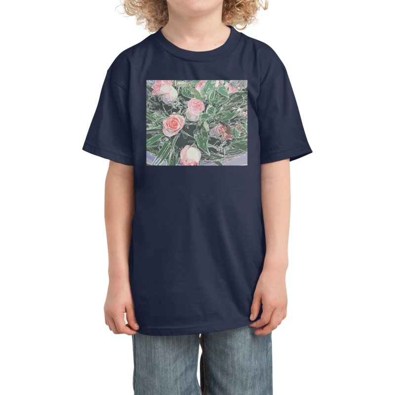 Wild Rose Kids T-Shirt by covereaux's Artist Shop