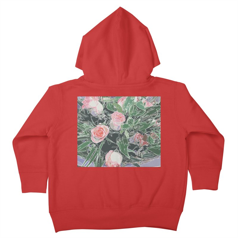 Wild Rose Kids Toddler Zip-Up Hoody by covereaux's Artist Shop