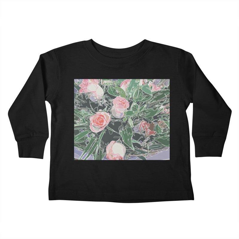 Wild Rose Kids Toddler Longsleeve T-Shirt by covereaux's Artist Shop