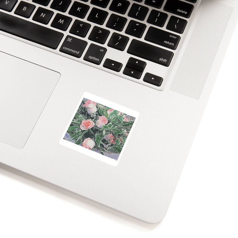 Wild Rose Accessories Sticker by covereaux's Artist Shop