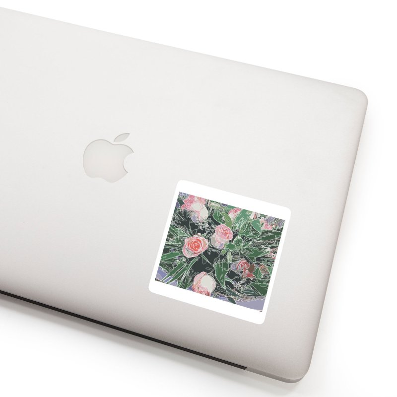 Wild Rose Accessories Sticker by covereaux's Artist Shop