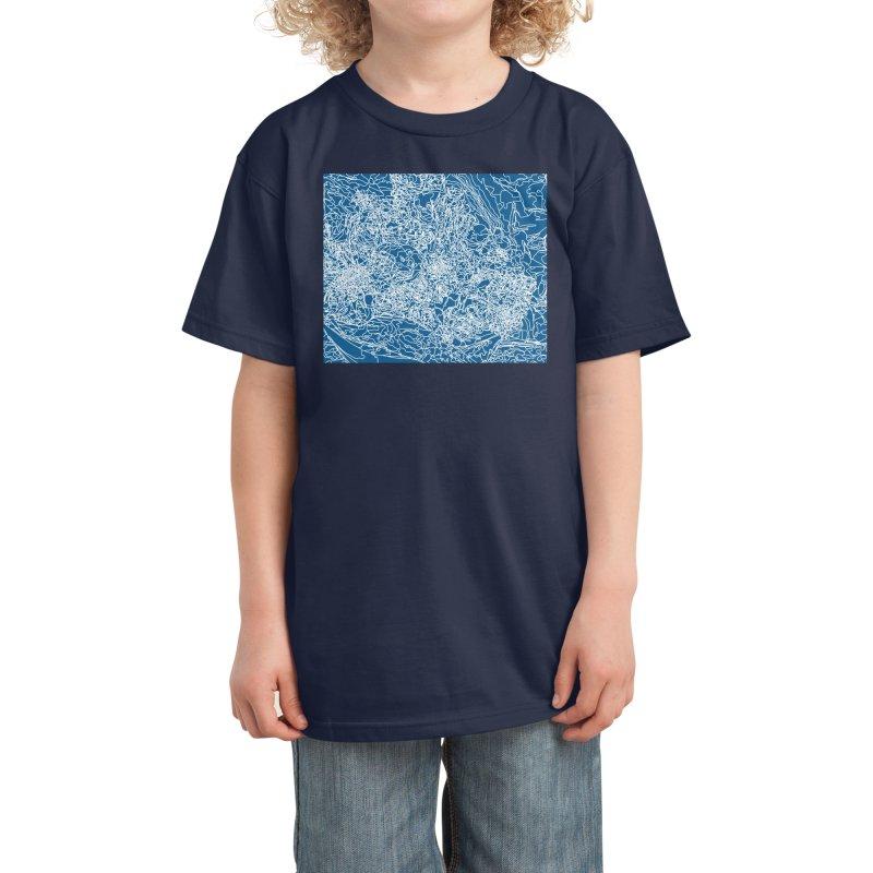 Coastline Kids T-Shirt by covereaux's Artist Shop