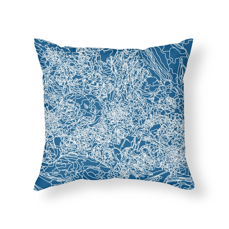 Coastline Home Throw Pillow by covereaux's Artist Shop