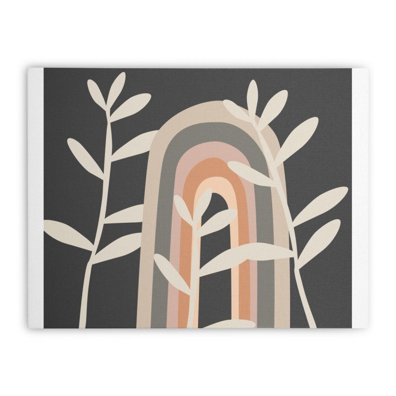 Abstract Rainbow Forest Night Home Stretched Canvas by Covereaux's Skate Shop