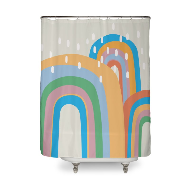 Abstract Stormy Rainbow III Home Shower Curtain by Covereaux's Skate Shop