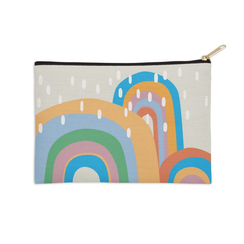 Abstract Stormy Rainbow III Accessories Zip Pouch by Covereaux's Skate Shop