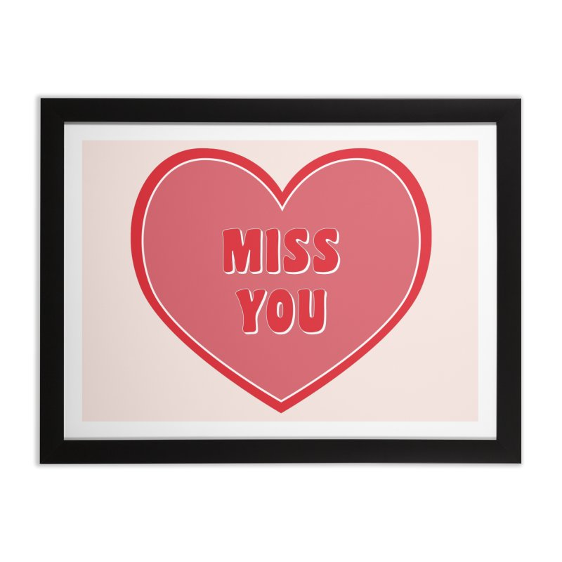 Miss You Home Framed Fine Art Print by Covereaux's Skate Shop