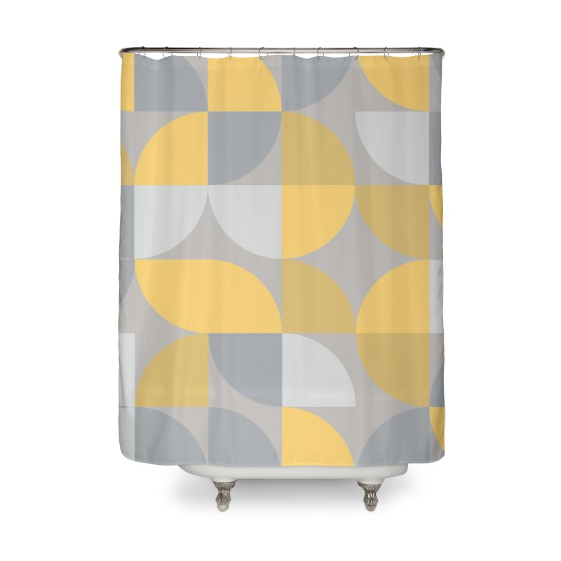 Abstract Lemon Home Shower Curtain by Covereaux's Skate Shop