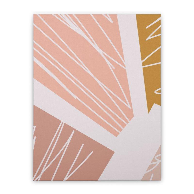 Sunburst Home Stretched Canvas by Covereaux's Skate Shop
