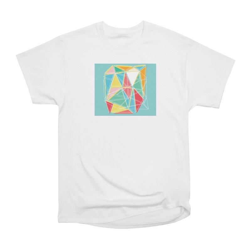 Cubist on blue Women's T-Shirt by Covereaux's Skate Shop