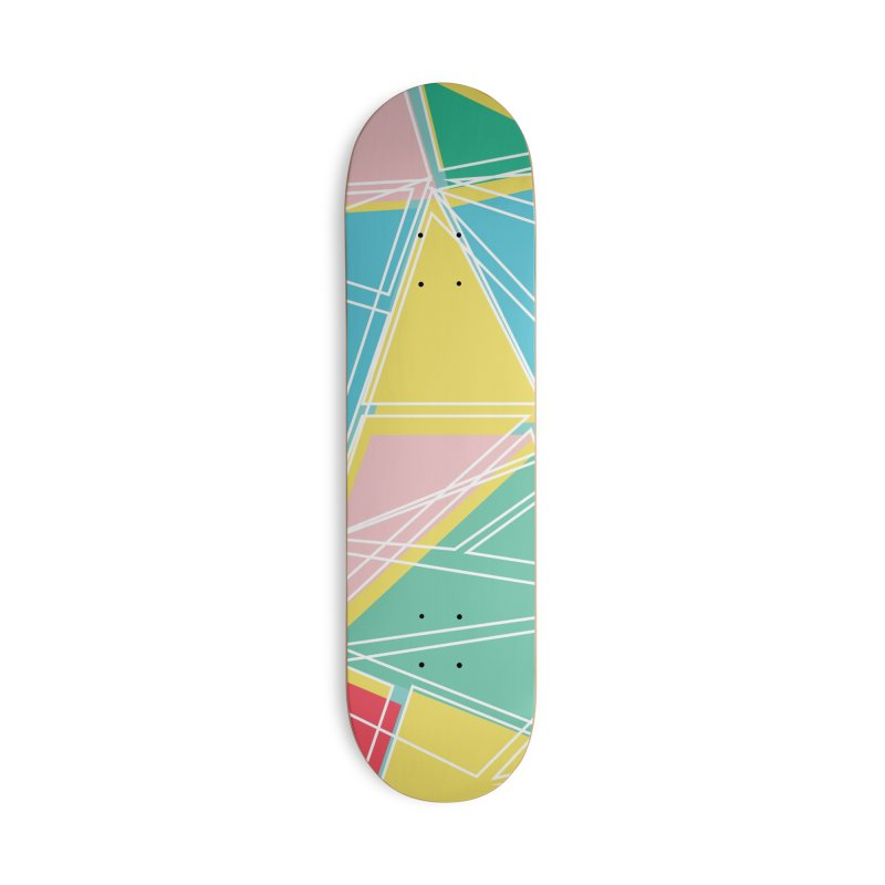 Cubist on blue Accessories Skateboard by Covereaux's Skate Shop