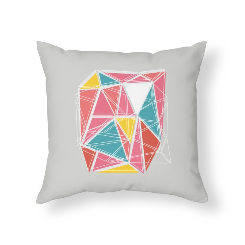 Cubist on Gray Home Throw Pillow by Covereaux's Skate Shop