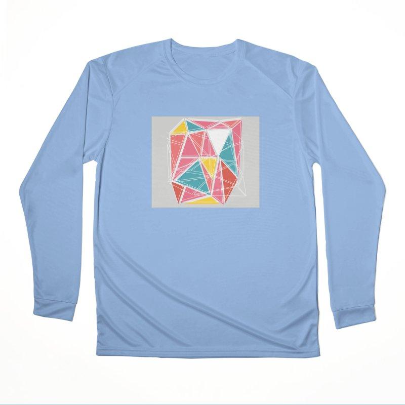 Cubist on Gray Men's Longsleeve T-Shirt by Covereaux's Skate Shop