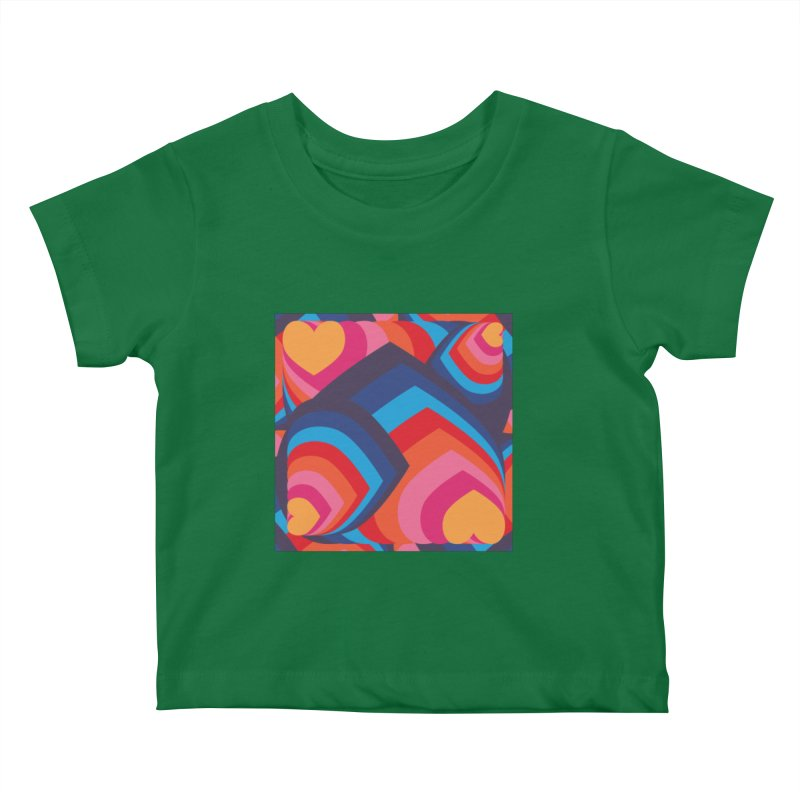 Love in Full Colour Kids Baby T-Shirt by Covereaux's Skate Shop