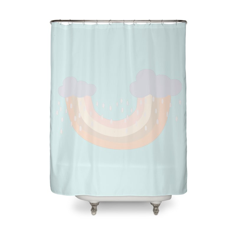 Rainbow Blues Home Shower Curtain by Covereaux's Skate Shop