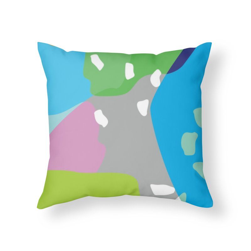 Summer Holiday II Home Throw Pillow by Covereaux's Skate Shop