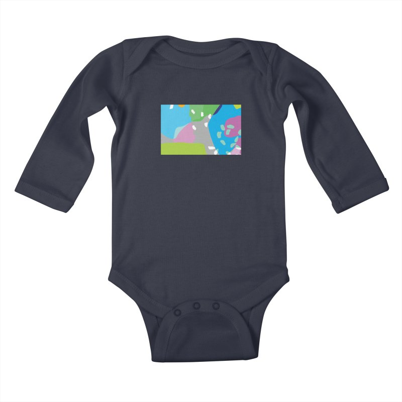 Summer Holiday II Kids Baby Longsleeve Bodysuit by Covereaux's Skate Shop