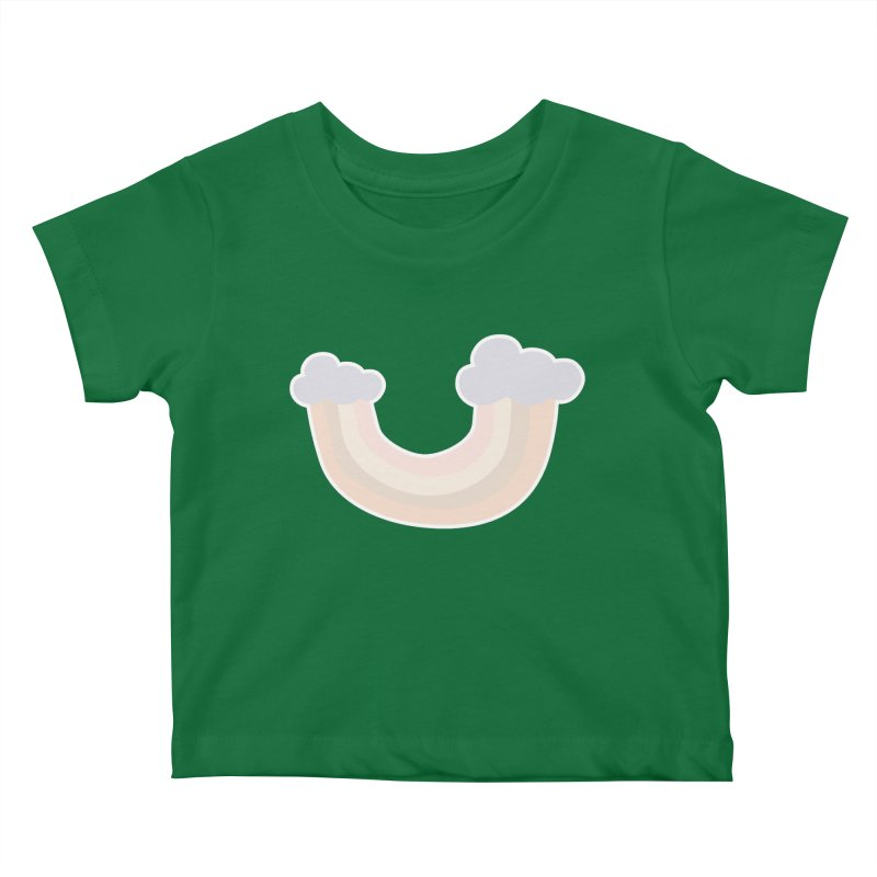 Upside Rainbow Kids Baby T-Shirt by Covereaux's Skate Shop