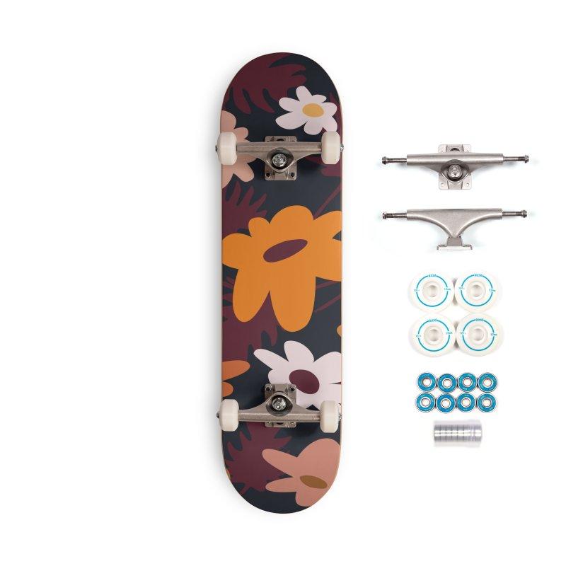 Floral Skater Girl Accessories Skateboard by Covereaux's Skate Shop
