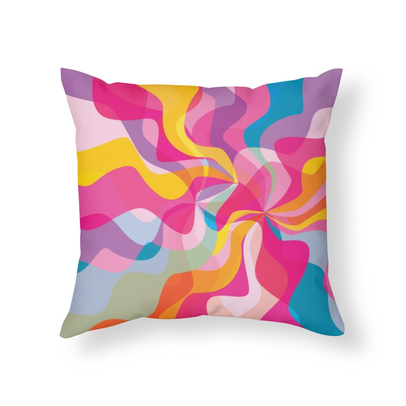 Groovy Home Throw Pillow by Covereaux's Skate Shop