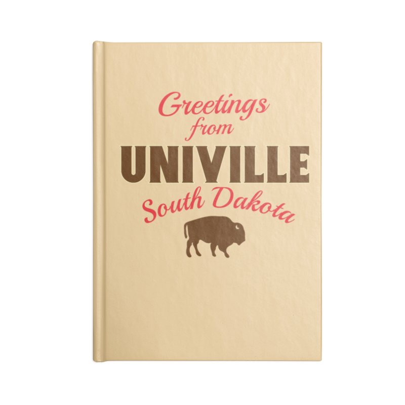 Greetings from Univille Accessories Notebook by Cowboy Goods Artist Shop
