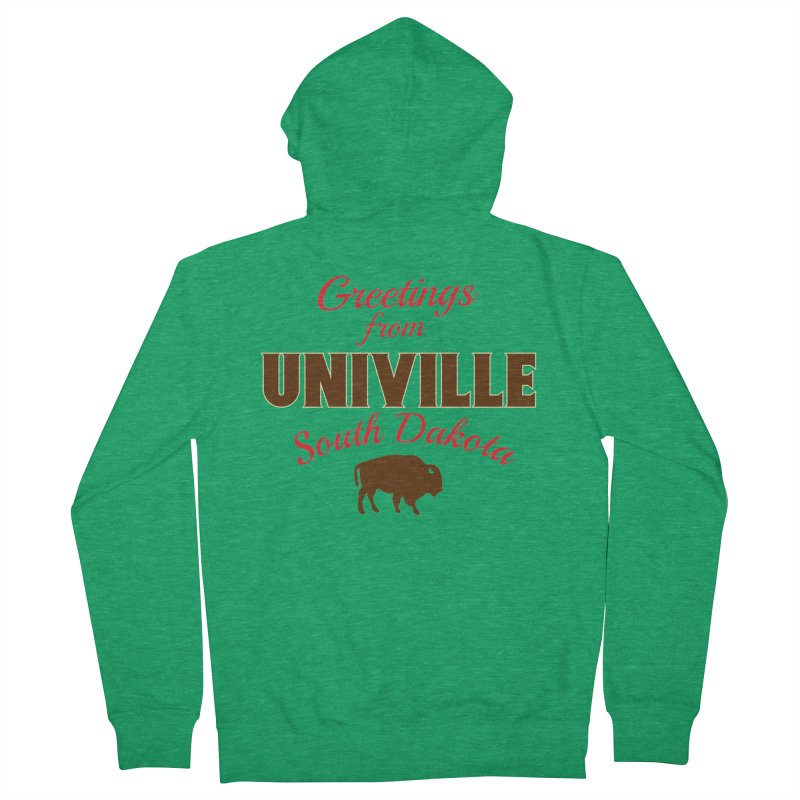 Greetings from Univille Men's Zip-Up Hoody by Cowboy Goods Artist Shop