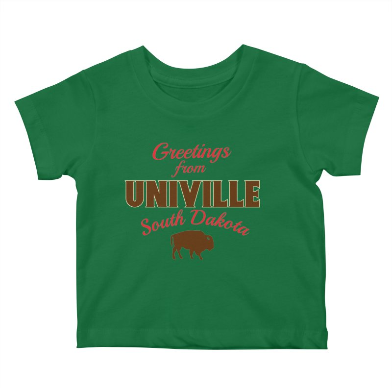 Greetings from Univille Kids Baby T-Shirt by Cowboy Goods Artist Shop