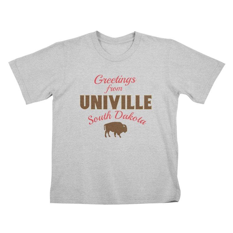 Greetings from Univille Kids T-Shirt by Cowboy Goods Artist Shop