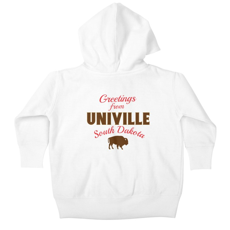Greetings from Univille Kids Baby Zip-Up Hoody by Cowboy Goods Artist Shop