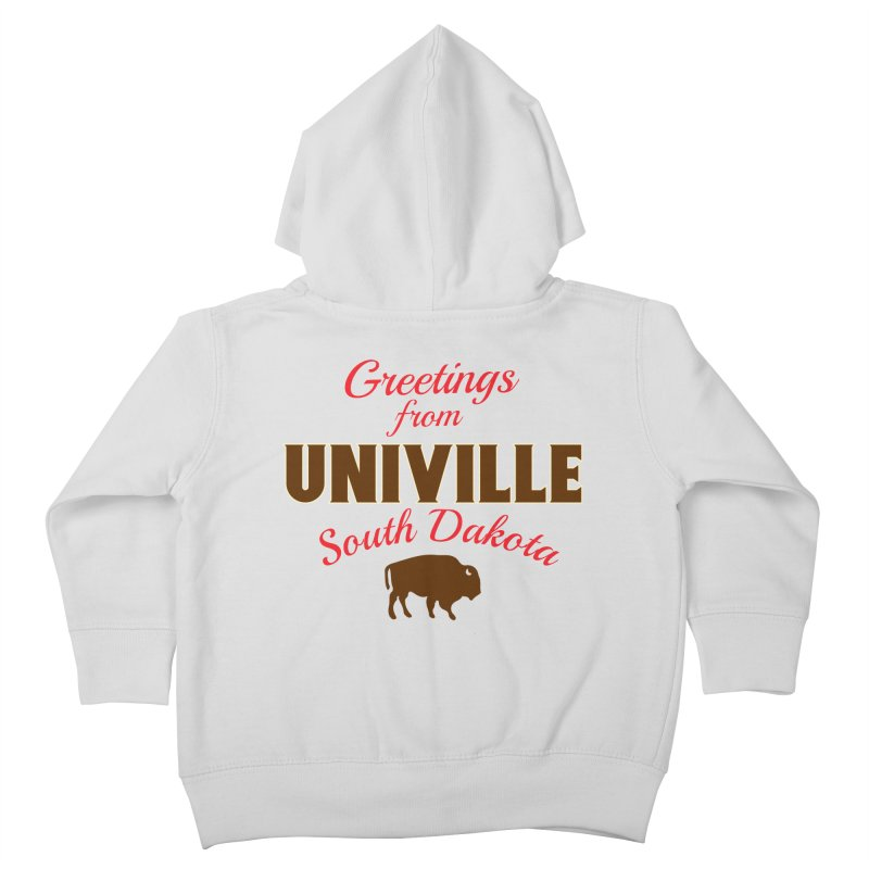 Greetings from Univille Kids Toddler Zip-Up Hoody by Cowboy Goods Artist Shop