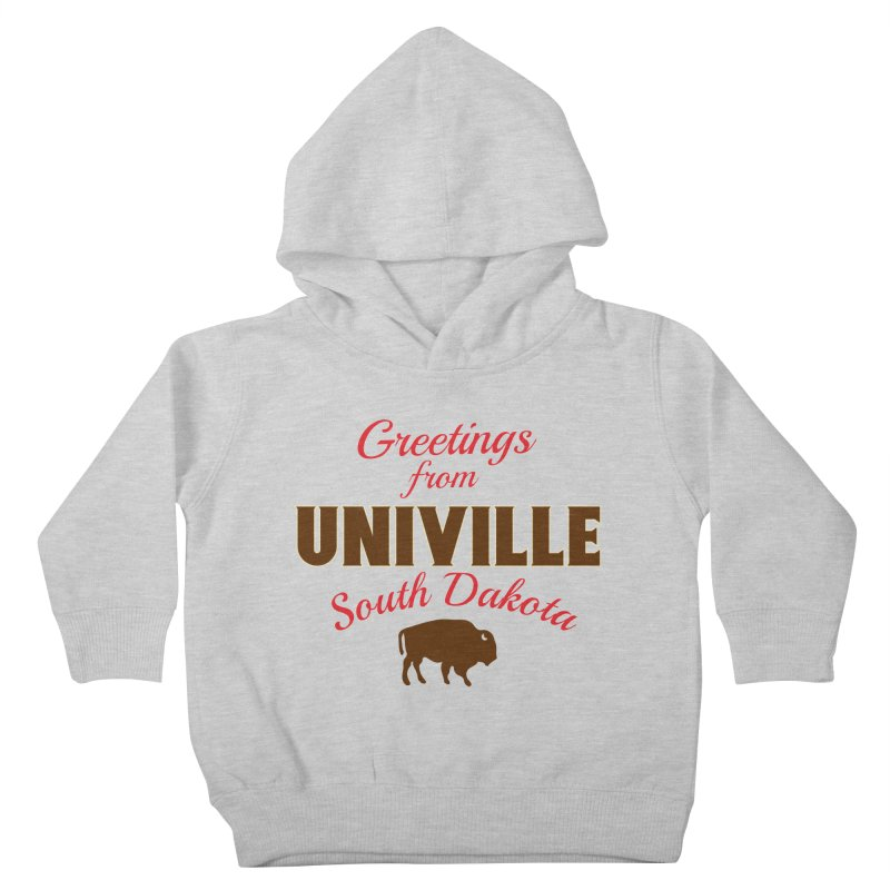 Greetings from Univille Kids Toddler Pullover Hoody by Cowboy Goods Artist Shop