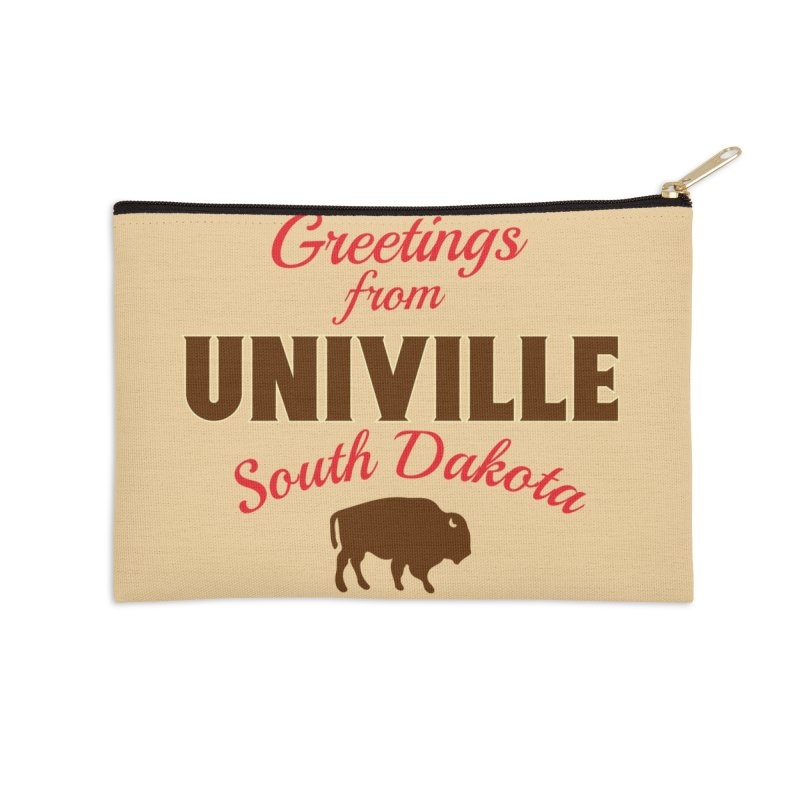 Greetings from Univille Accessories Zip Pouch by Cowboy Goods Artist Shop