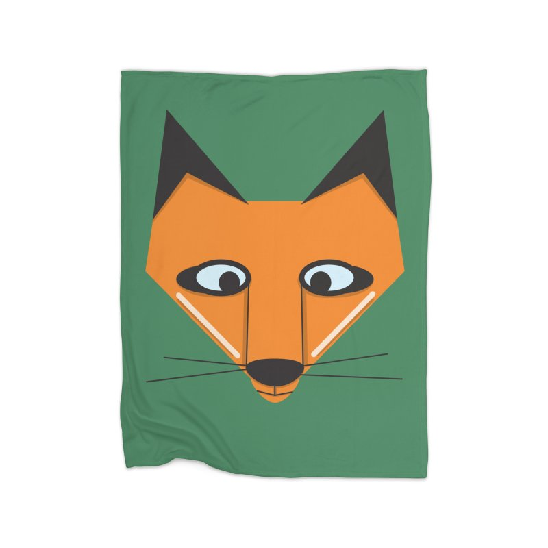 Fox Face Home Blanket by Cowboy Goods Artist Shop