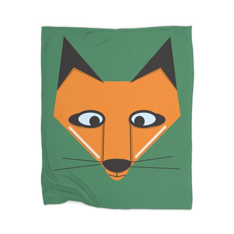 Fox Face Home Blanket by Cowboy Goods Artist Shop