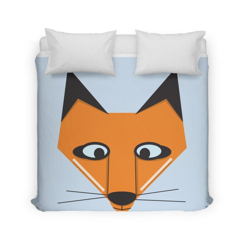Fox Face Home Duvet by Cowboy Goods Artist Shop
