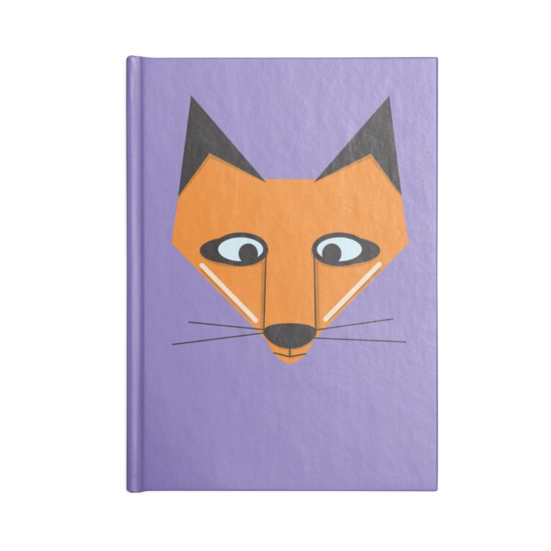 Fox Face Accessories Notebook by Cowboy Goods Artist Shop